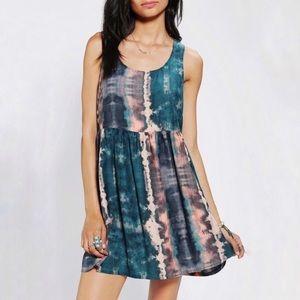 ECOTE Urban Oufitters Tie Dye Fit n Flare Dress S